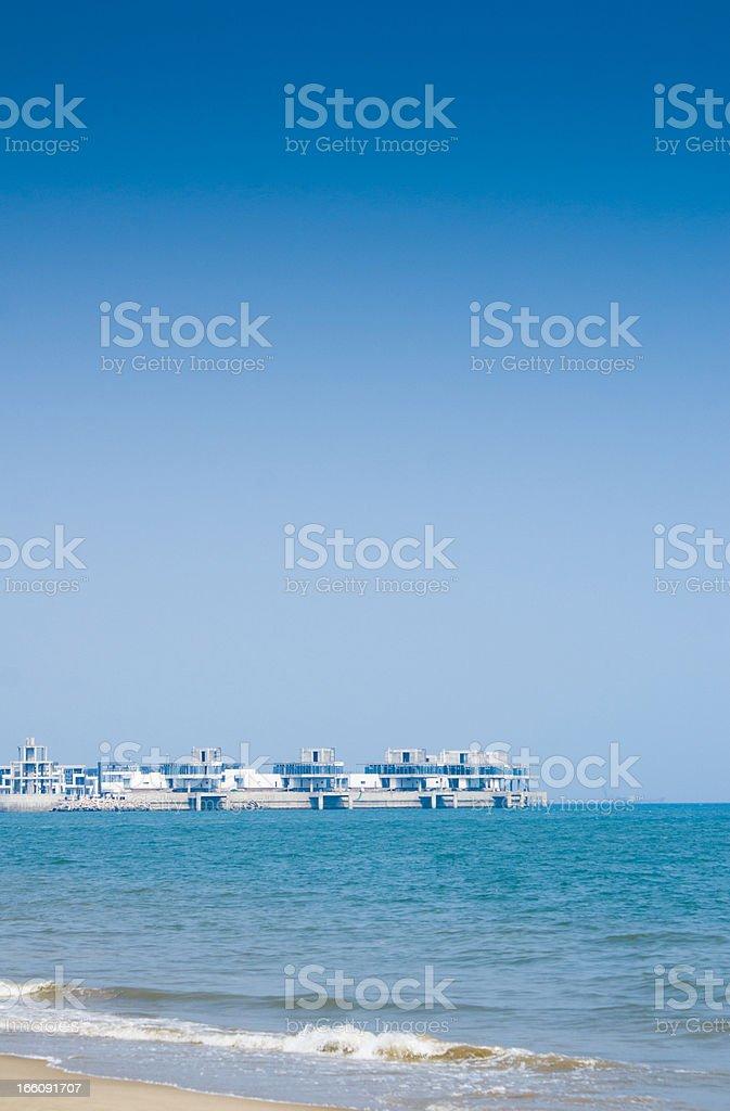 Villa on seaside royalty-free stock photo
