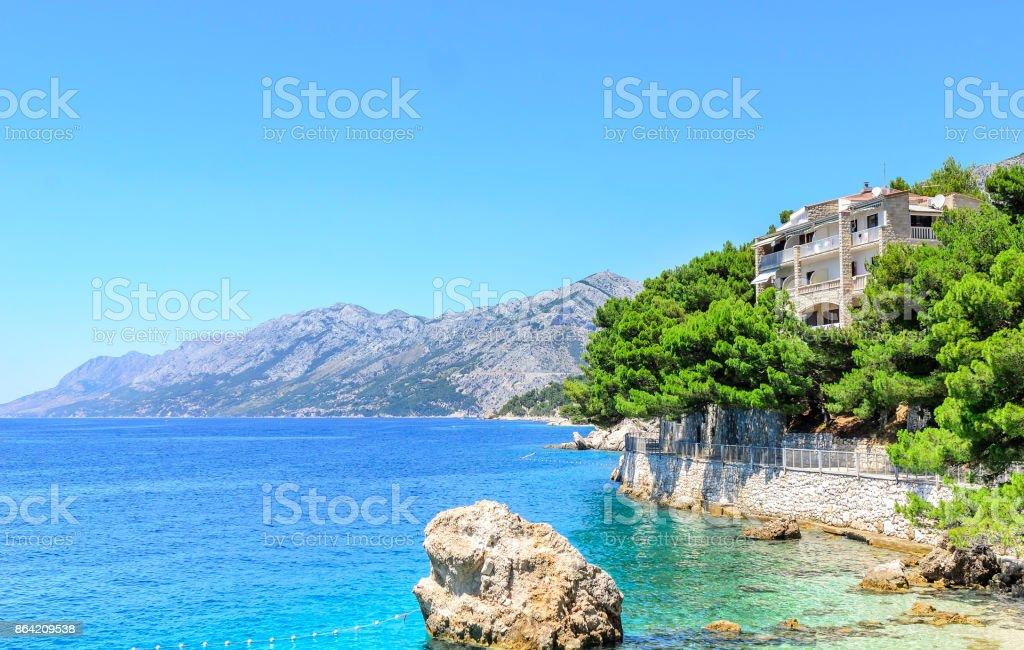 Villa on the beach. royalty-free stock photo