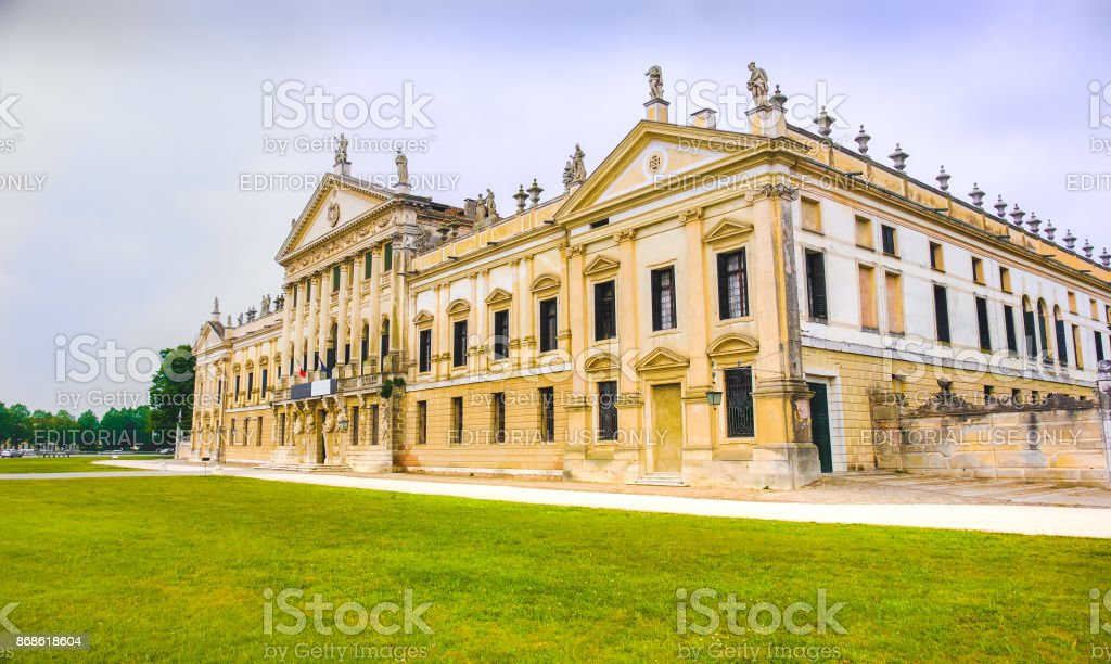 Villa Pisani National Museum buiding entrance from outside stock photo