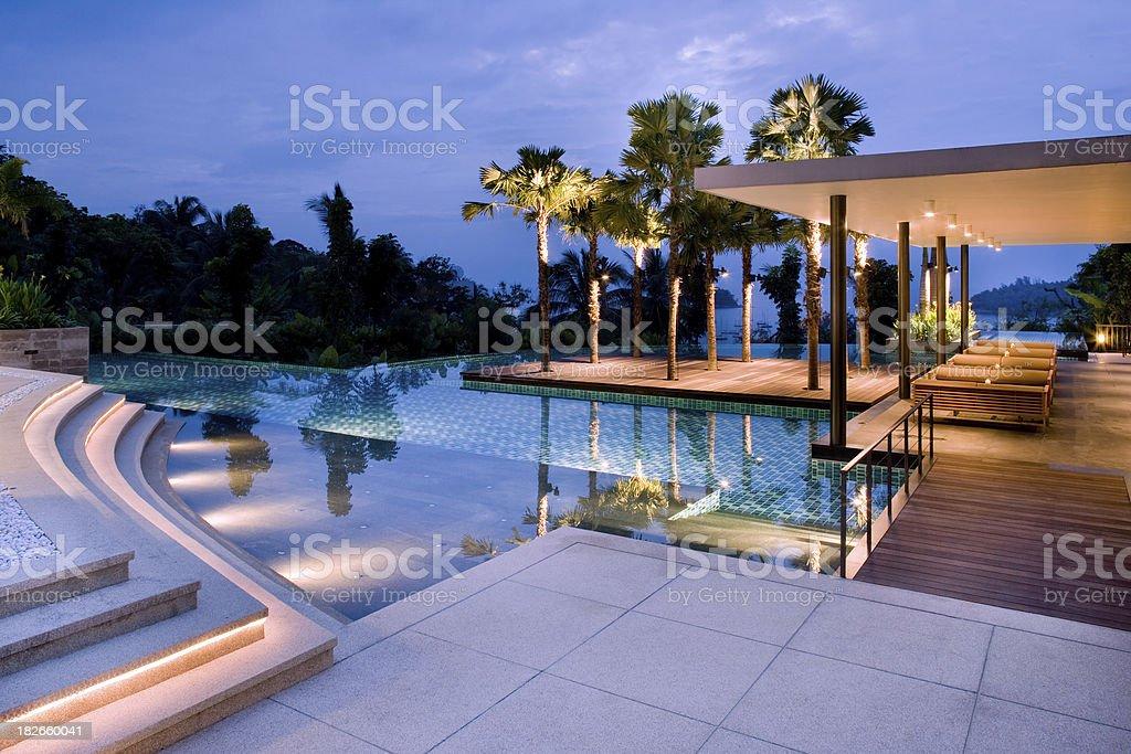 Villa Pool stock photo