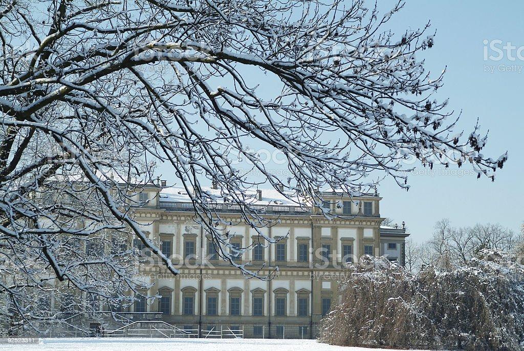 Villa reale (monza - italy) - in winter stock photo