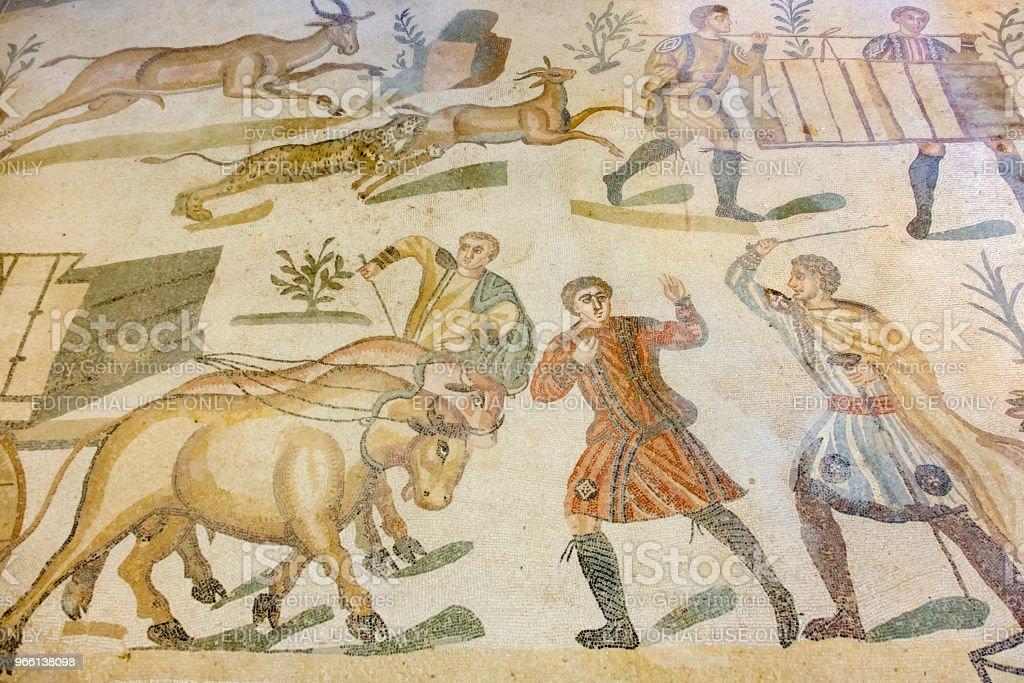 Villa Romana del Casale, Piazza Armerina (Sicily, Italy) - Royalty-free Antigo Foto de stock