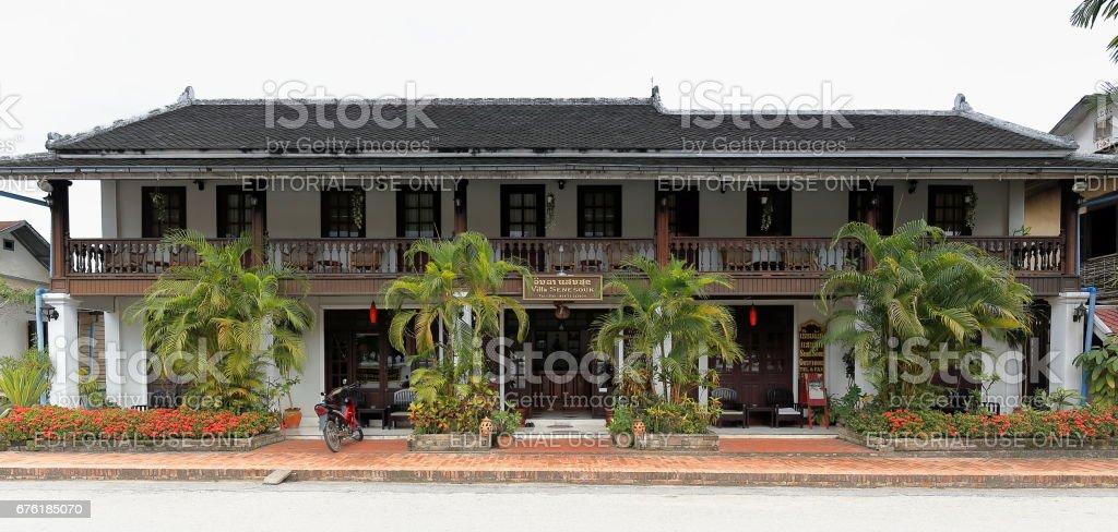 Villa Senesouk guest house in Sakkaline road. Luang Prabang-Laos. 4420 stock photo