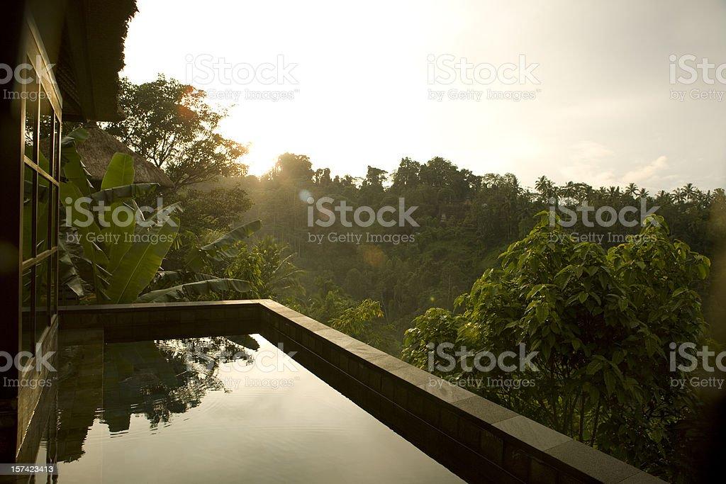 Villa Sunrise in Ubud Bali stock photo