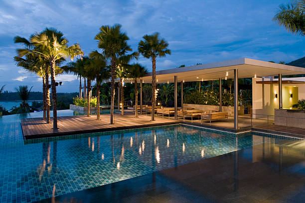 villa-sunrise - ferienhaus thailand stock-fotos und bilder