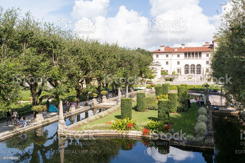 Villa Vizcaya in Miami, Florida stock photo