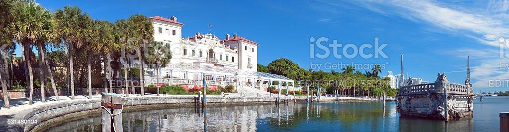 Villa Vizcaya Museum in the Miami stock photo