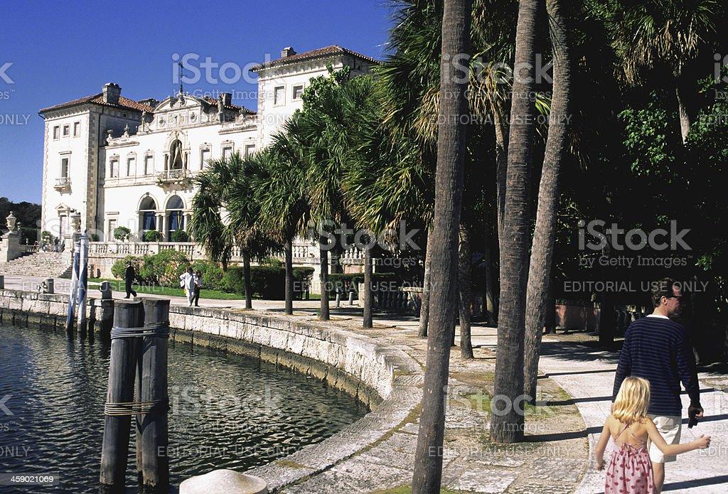 Villa Vizcaya stock photo