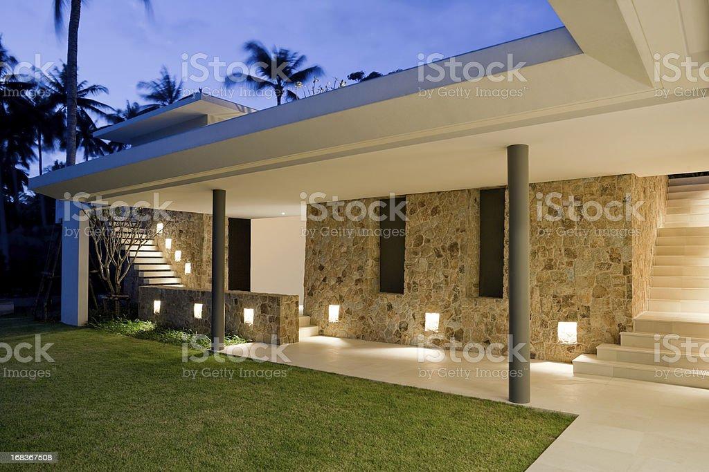 Villa Walkway stock photo