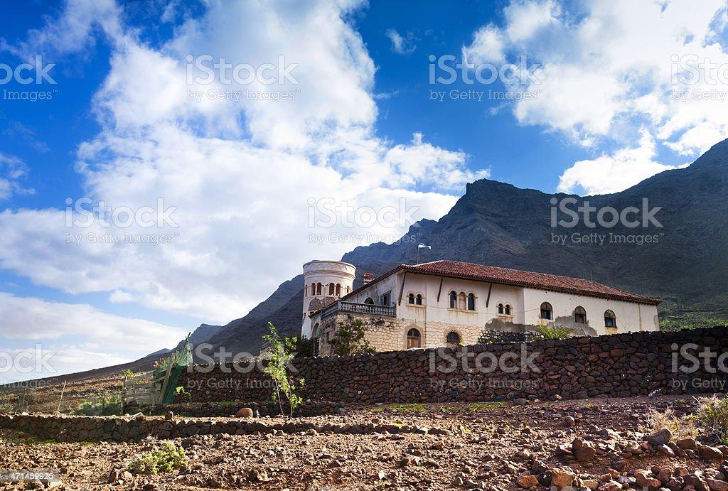 Villa Winter near Cofete, Fuerteventura royalty-free stock photo