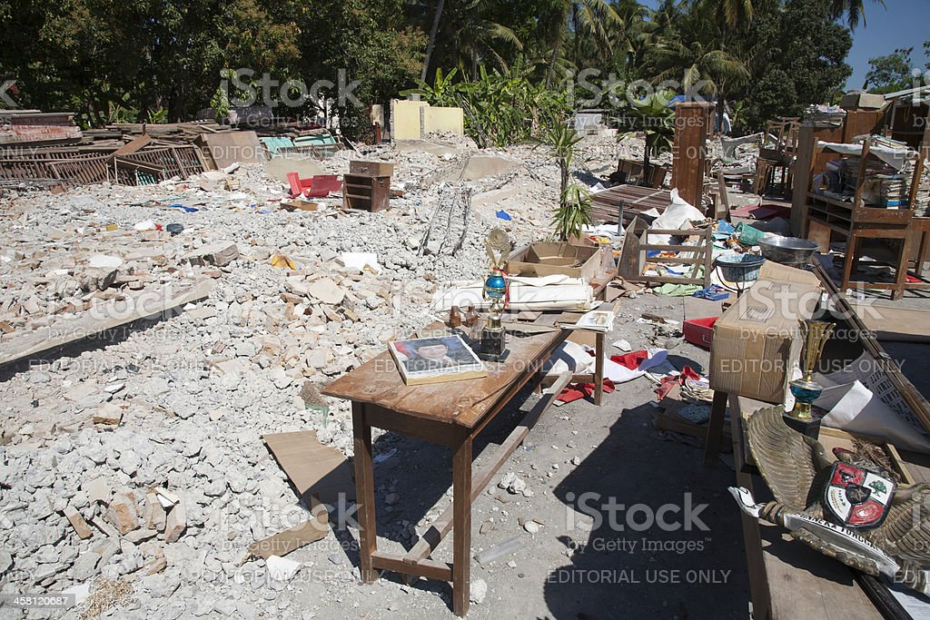 Village after earthquake royalty-free stock photo
