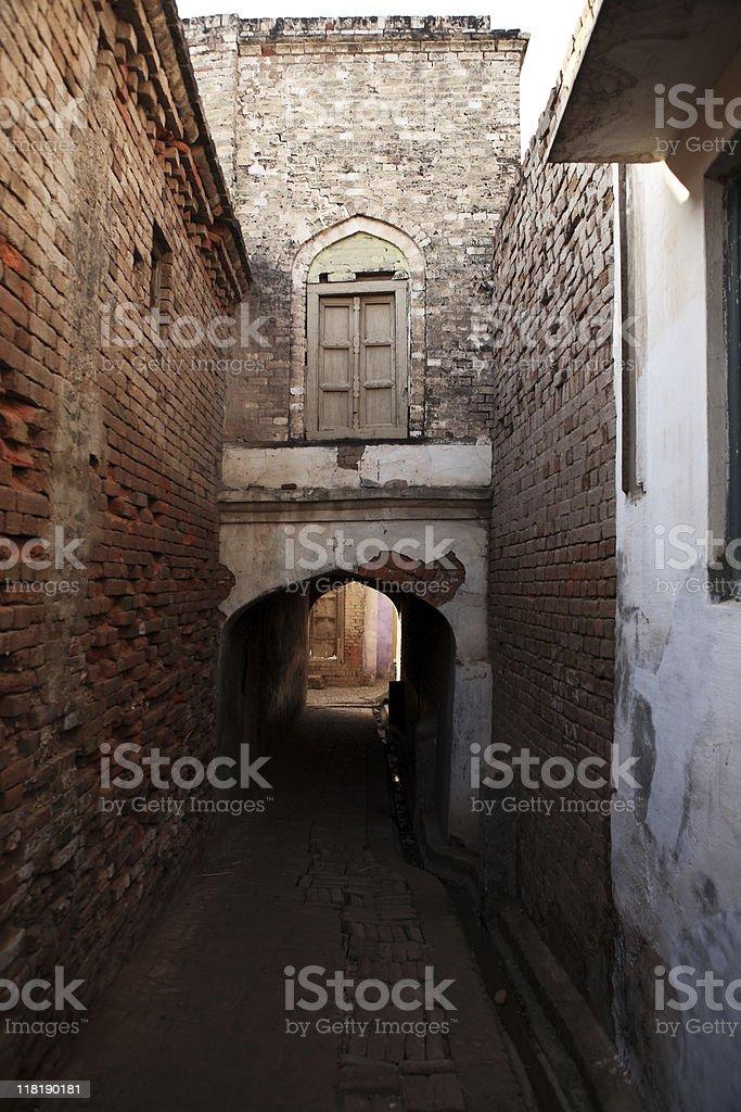 Village Alley stock photo