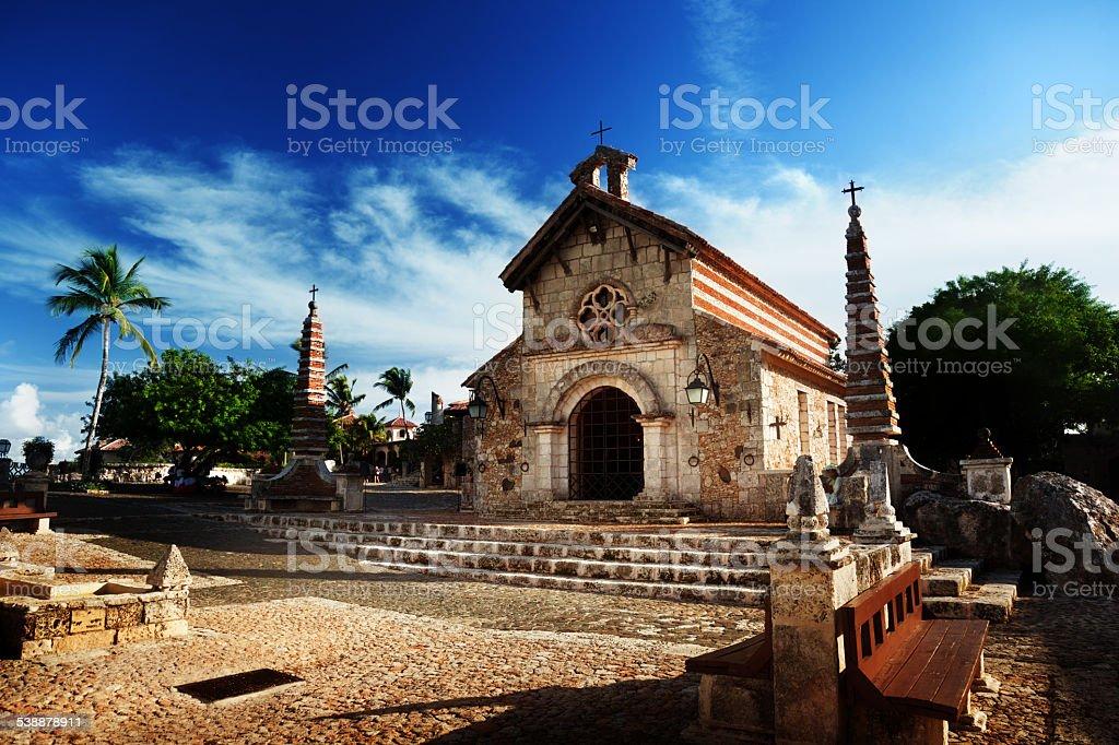 village Altos de Chavon, Dominican Republic stock photo