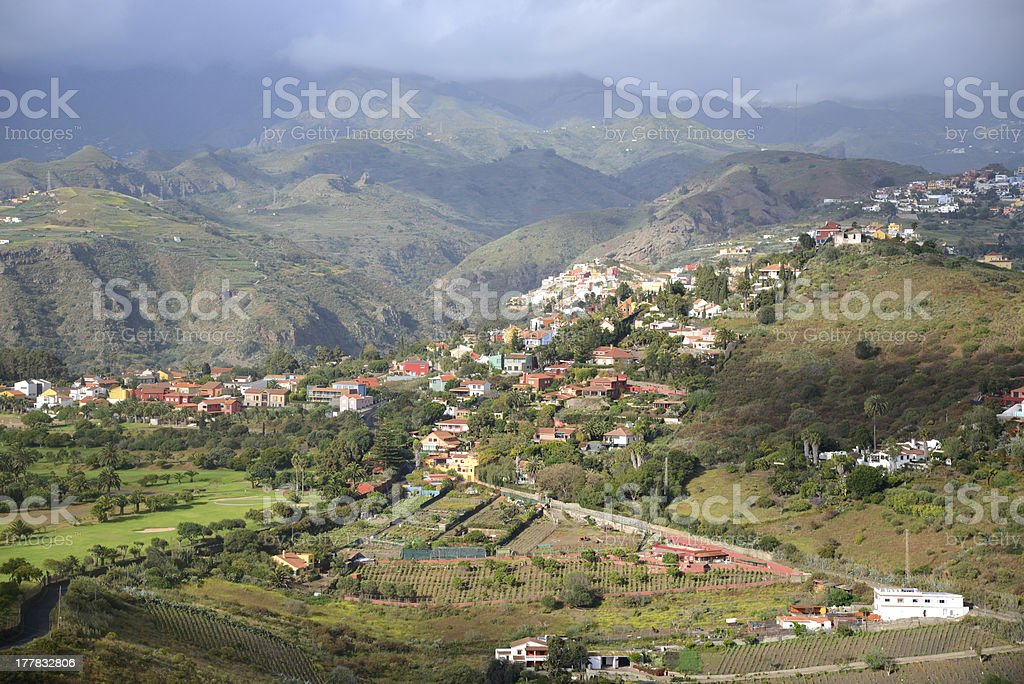 Village at Gran Canaria, Spain stock photo