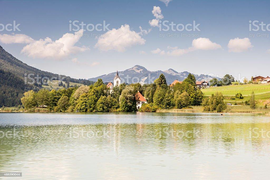 Village at lake Weissensee - Royalty-free 2015 Stock Photo