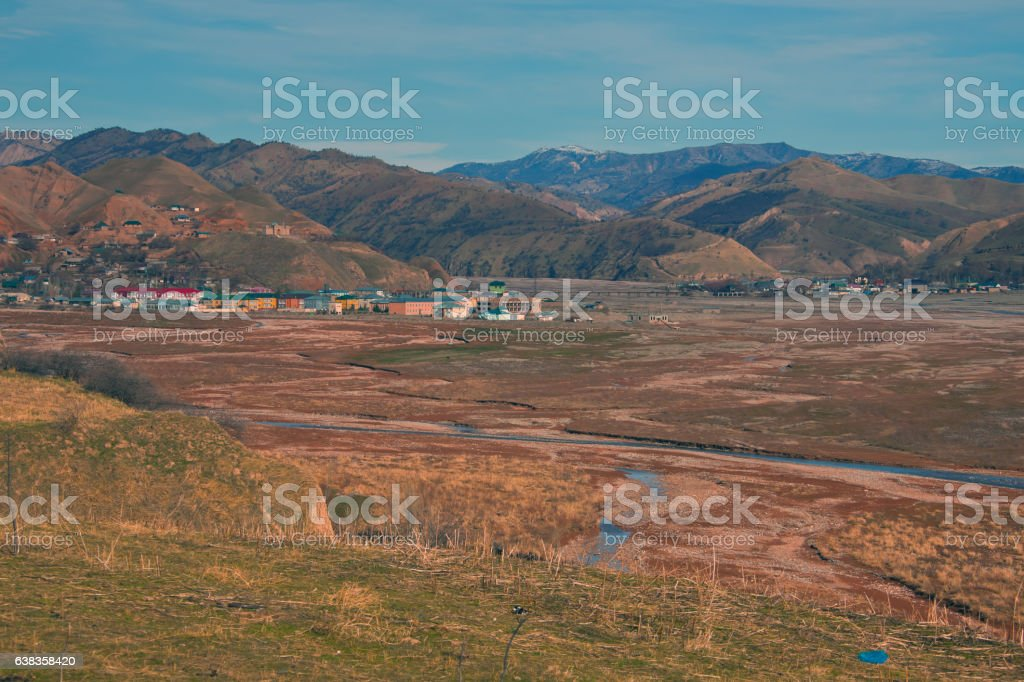 Village Baljuvan center administrative district in the Khatlon region stock photo