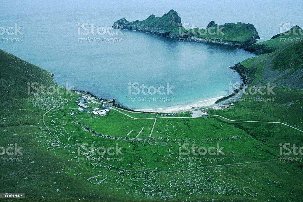 Village Bay, St. Kilda, Scotland stock photo
