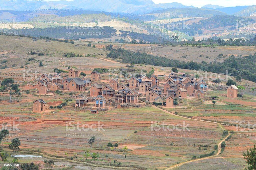 Village Betsileo stock photo