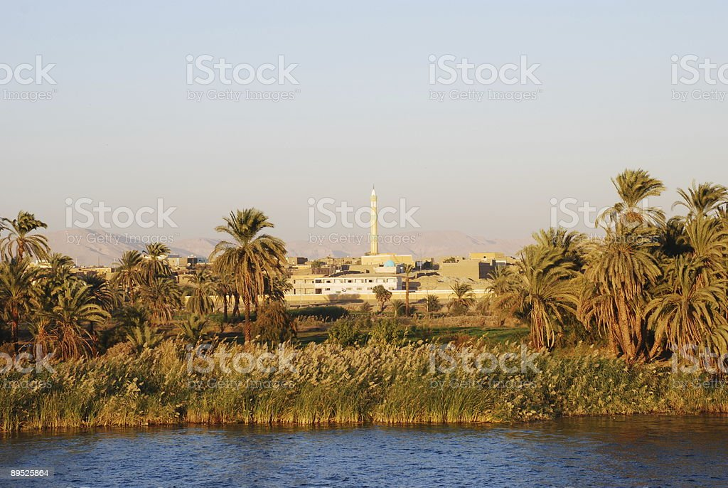 Village by the River Nile royalty-free stock photo