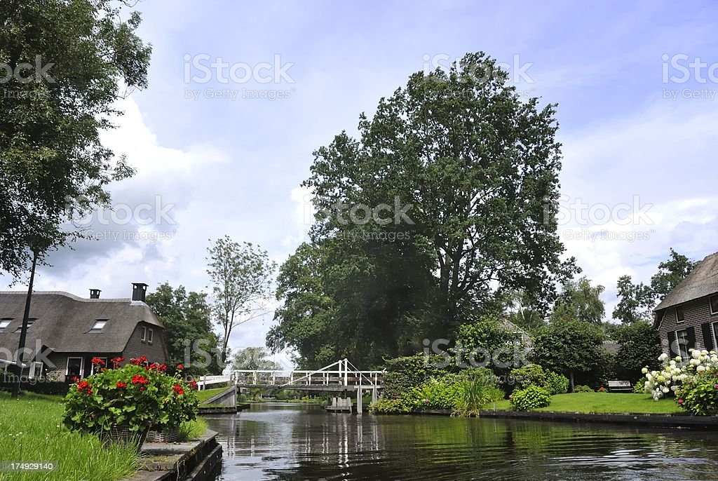 Village canal royalty-free stock photo