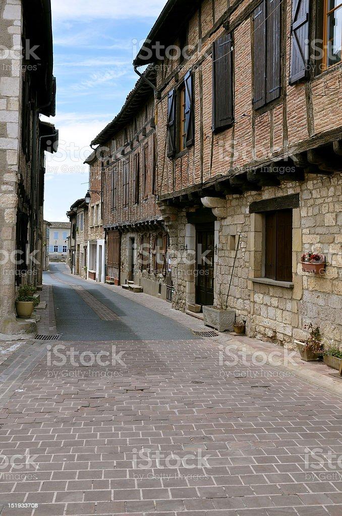 Village Castelnau of Montmiral in France stock photo