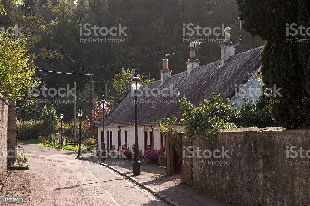 Village Cottages stock photo