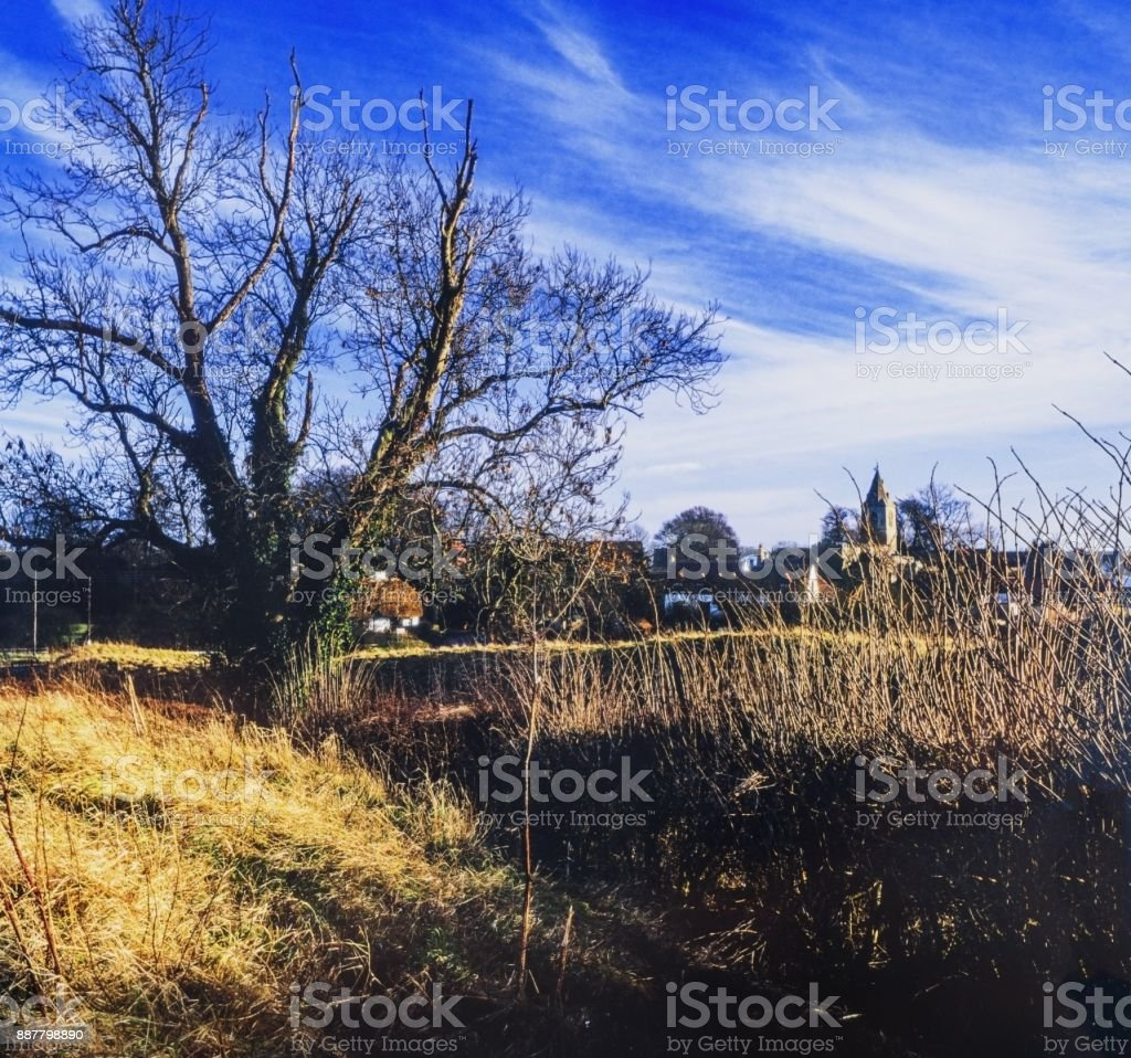 Village countryside stock photo
