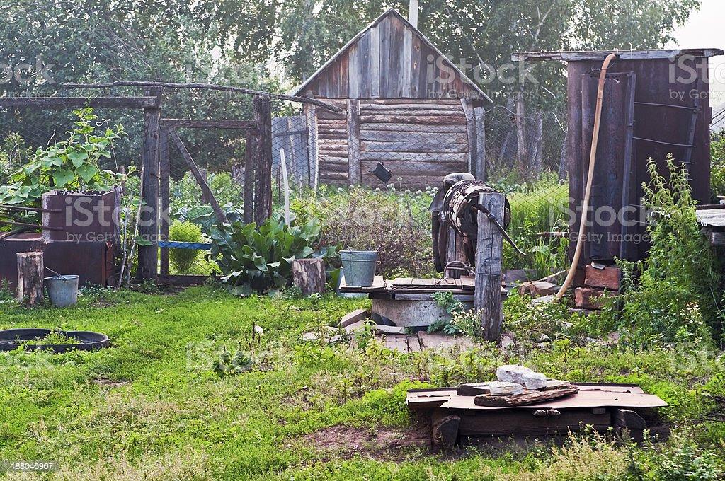 Village courtyard royalty-free stock photo