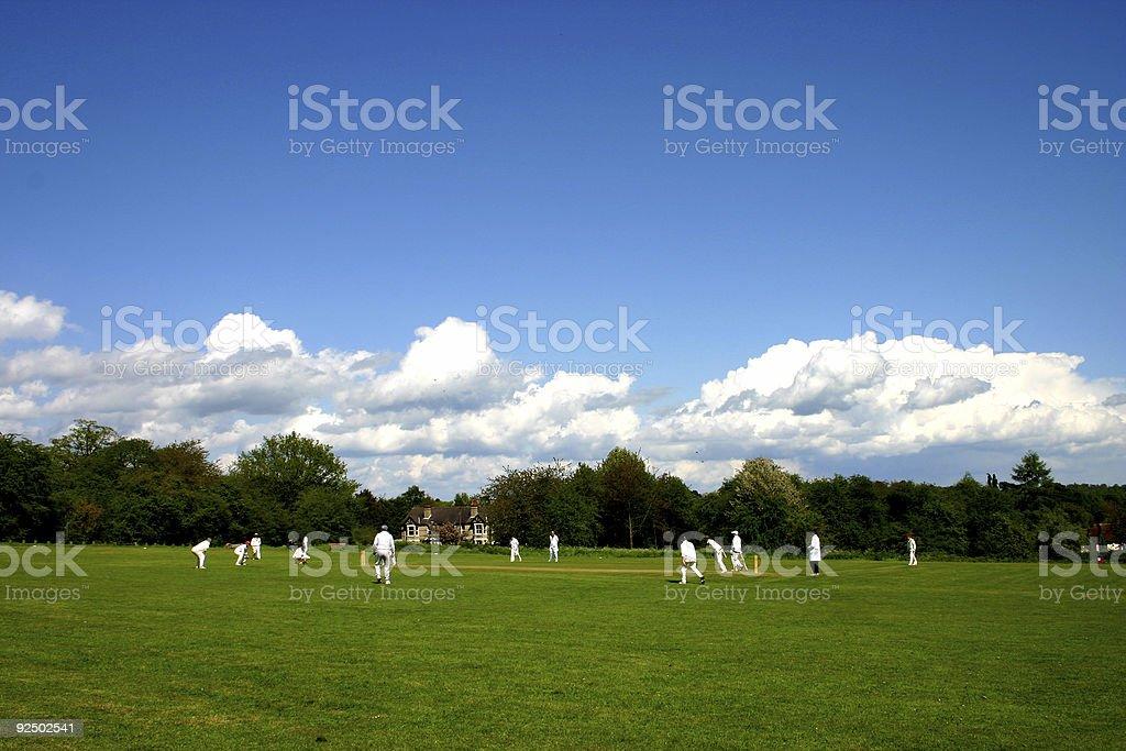 Village Cricket Match royalty-free stock photo