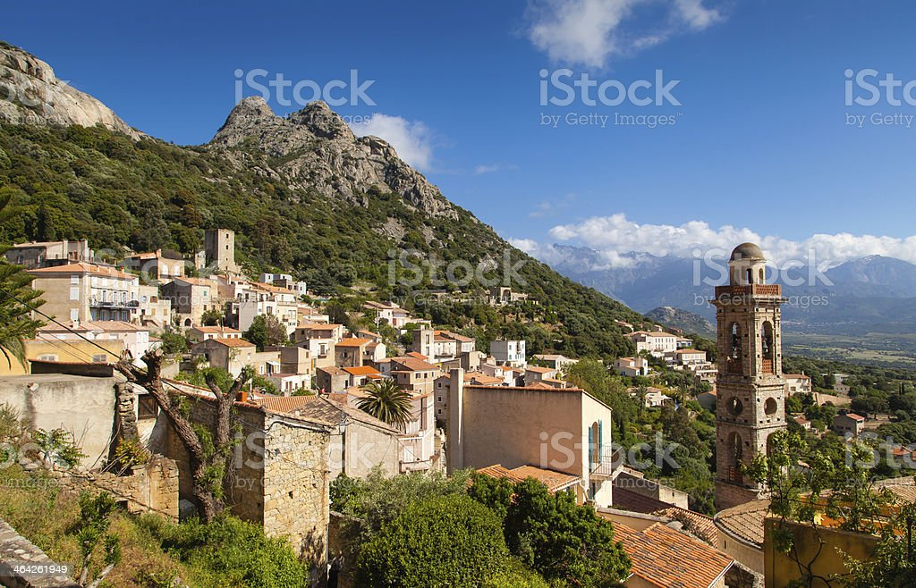 village de lumio stock photo