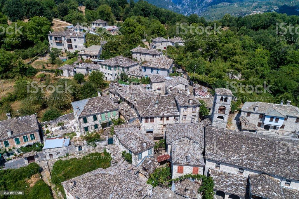 village Dilofo of Zagorochoria, Epirus, Western Greece stock photo