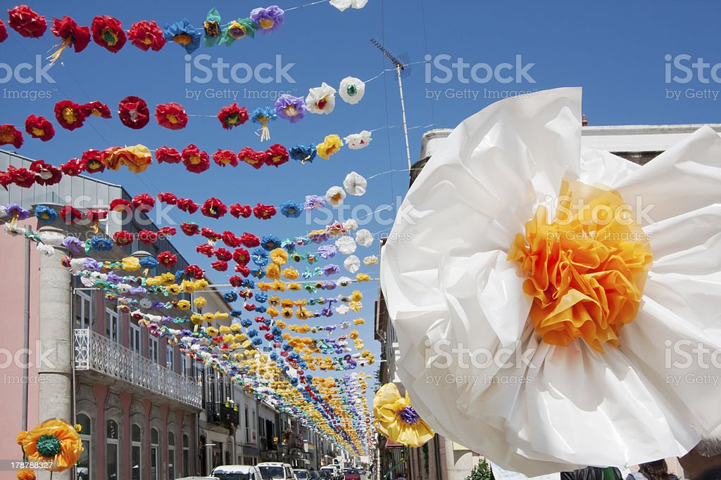 Village feast decorations royalty-free stock photo
