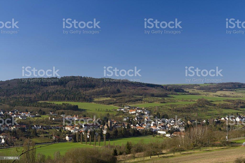 village Fremersdorf stock photo