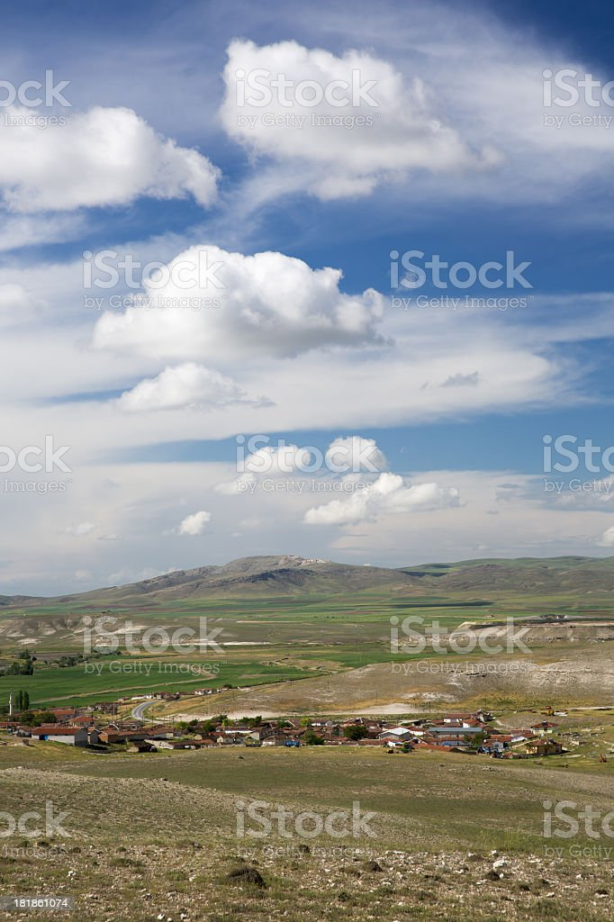 Village - Green Field and unplowed area royalty-free stock photo