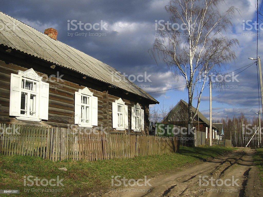 Village house, Belarus stock photo