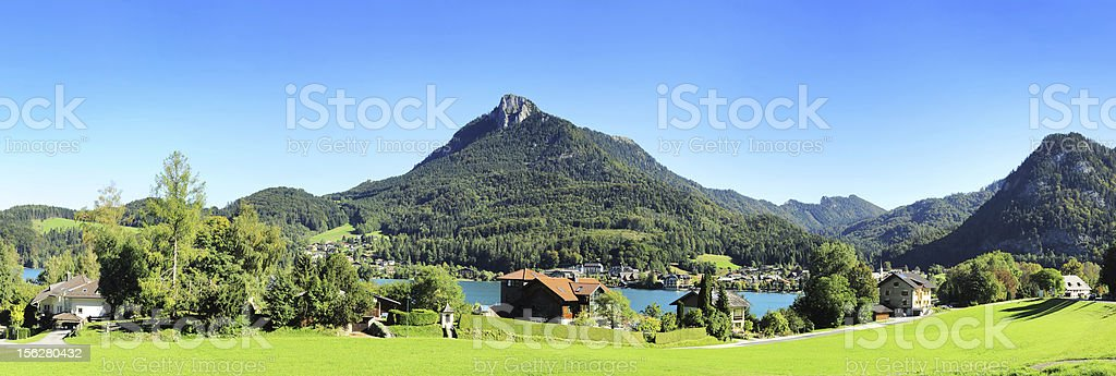 Village in Alps royalty-free stock photo