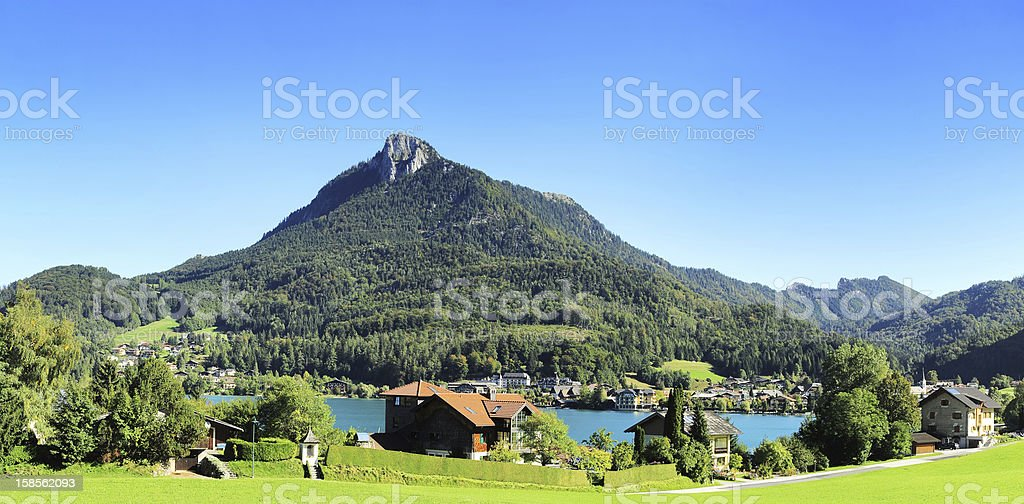 마을 알프스 royalty-free 스톡 사진