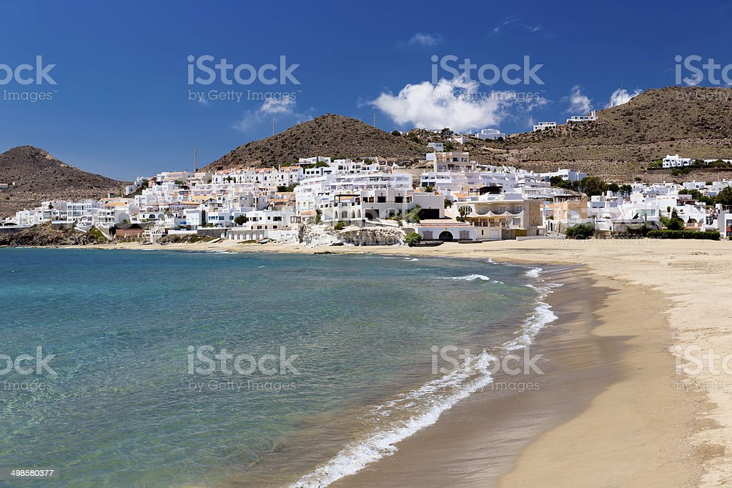 Village in Andalusia at seaside, Cabo de Gata, Spain stock photo