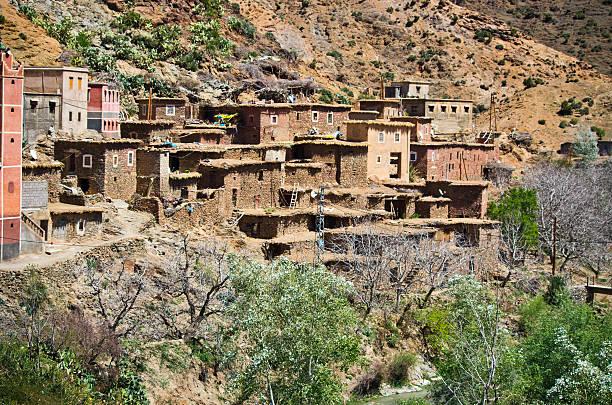 Village in Atlas mountains, Morocco – zdjęcie