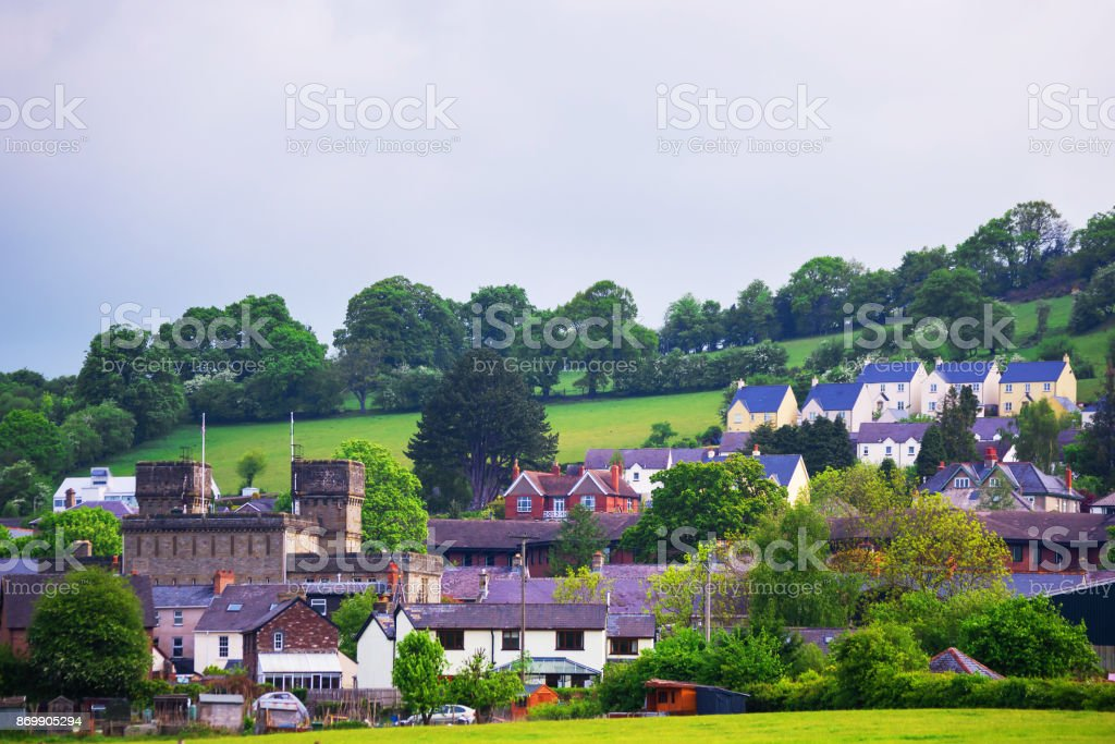 Village in Brecon Beacons in South Wales UK stock photo