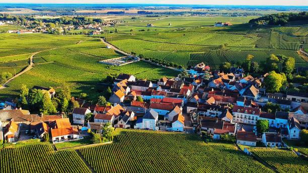 Village in Burgundy, France stock photo