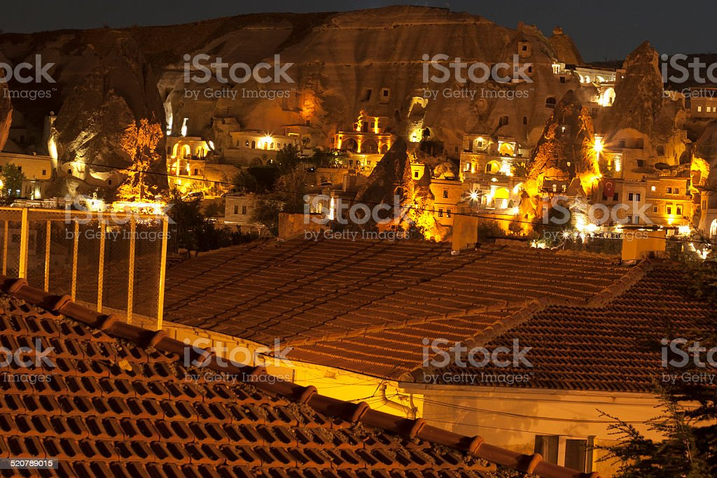 village in Cappadocia stock photo