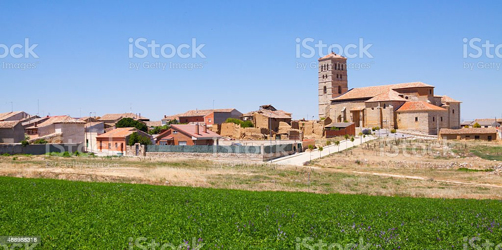 Village in  Castile and Leon. Torremormojon stock photo