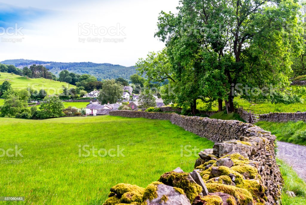 Village in Cumbria stock photo