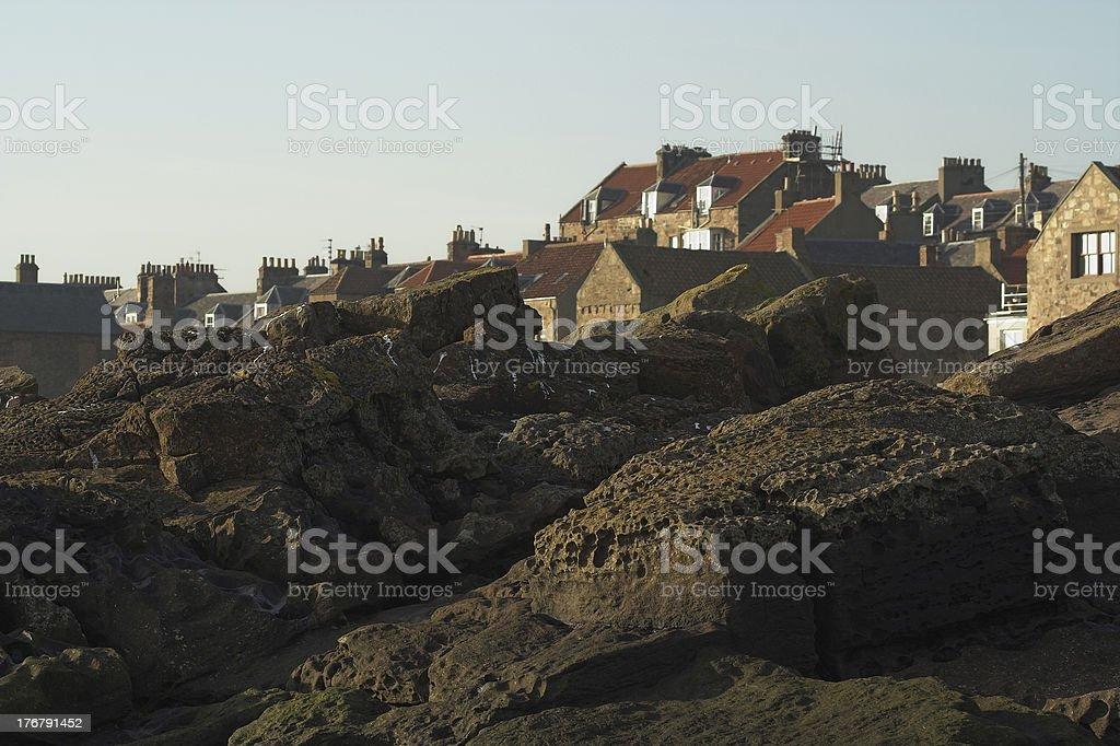 Village in Fife Scotland stock photo