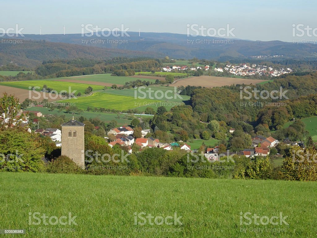 village in germany stock photo