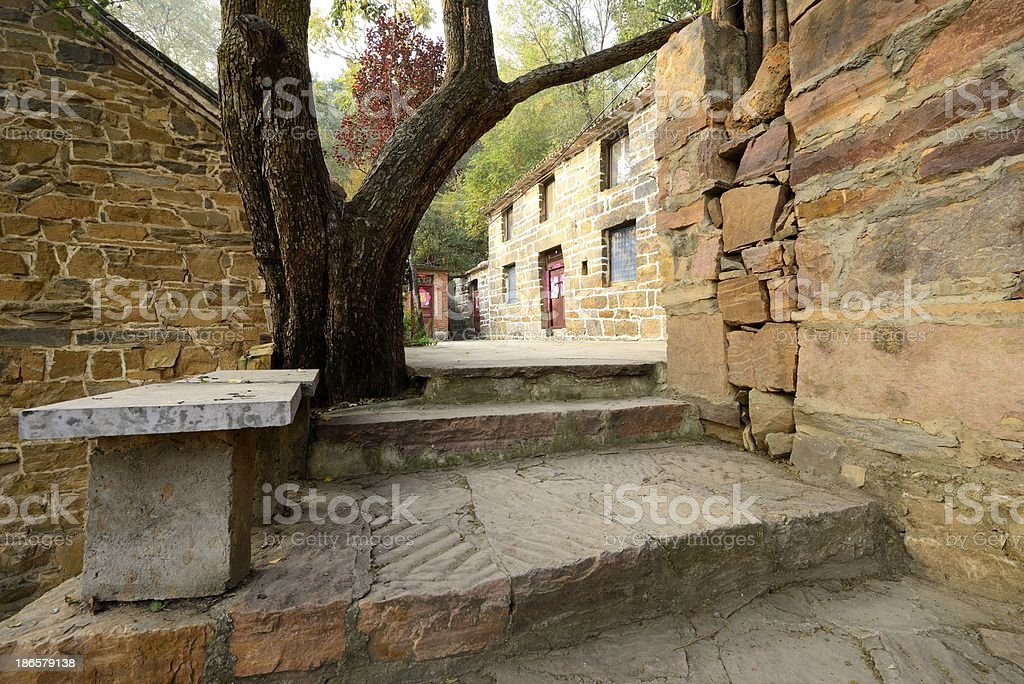 Village in Henan Province, China royalty-free stock photo