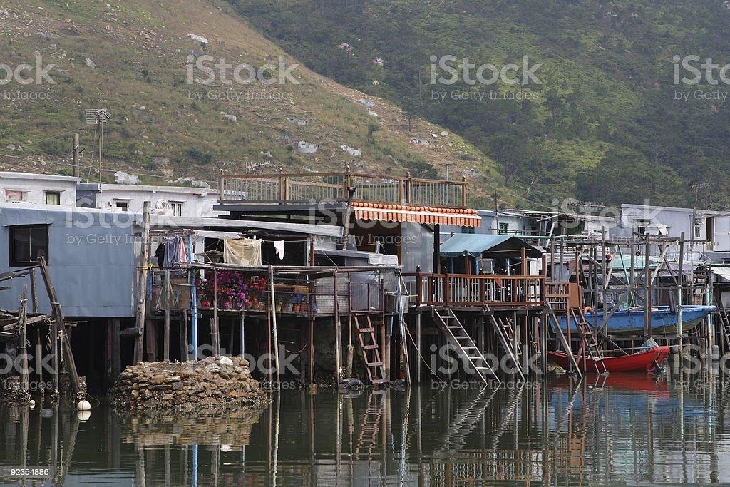 Village in Hong Kong royalty-free stock photo
