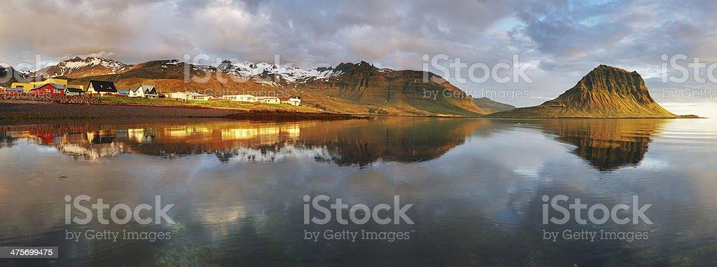 Village in Iceland - Grundarfjordur - snaefellsnes stock photo