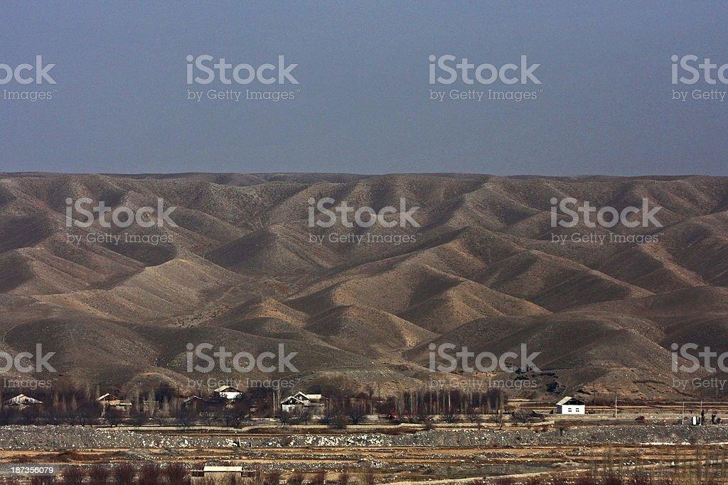 Village in Kyrgyzstan stock photo